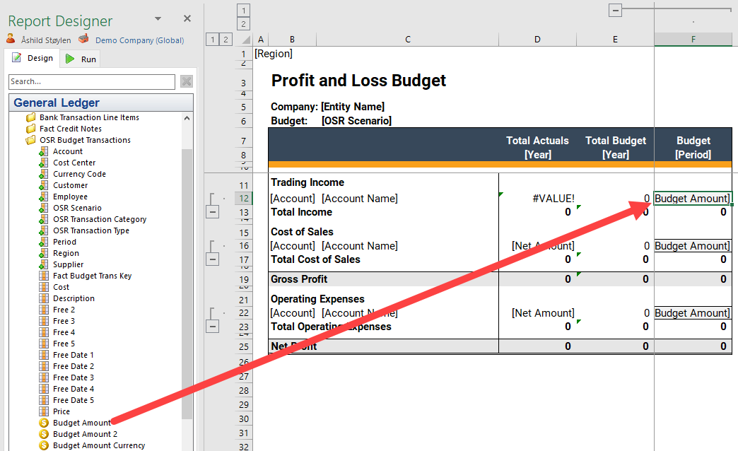 create budget template in report designer onestop reporting help